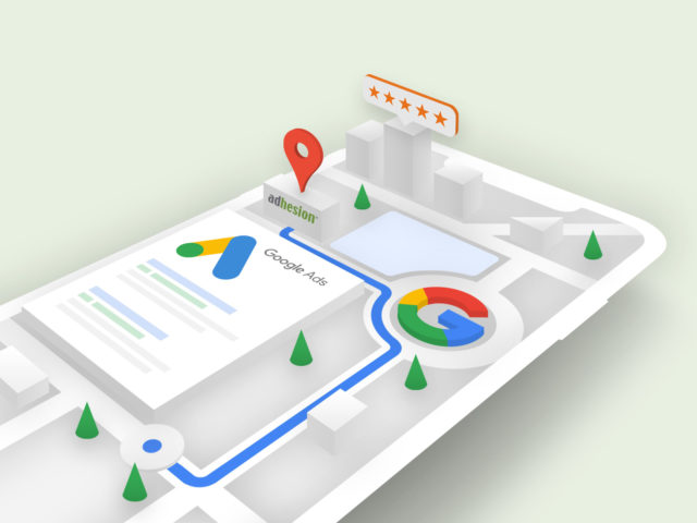 Google Ads Adhesion 3D Graphic