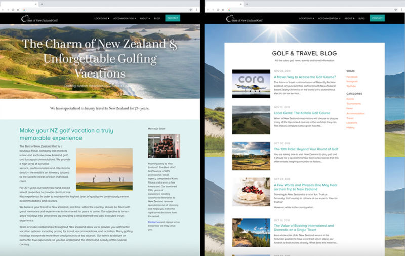 Custom Website Preview Best Of Nz Golf
