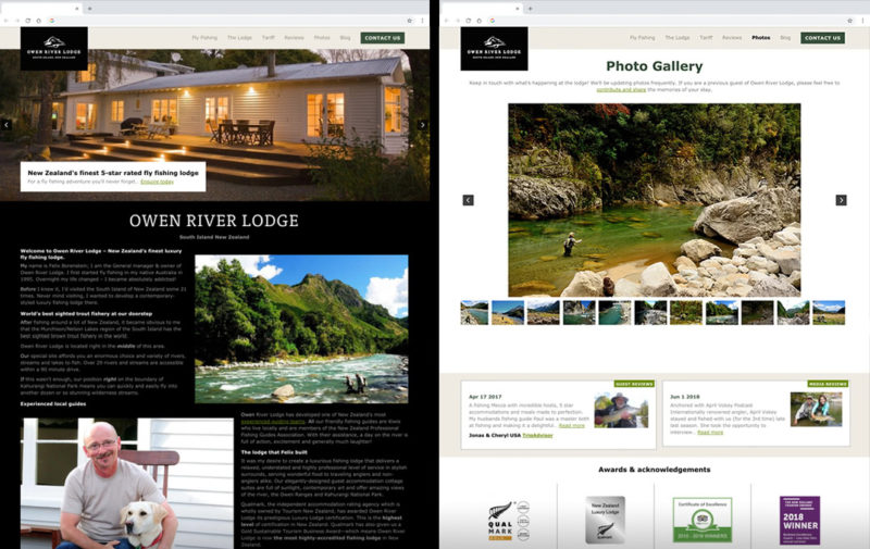 Custom Website Preview Owen River Lodge